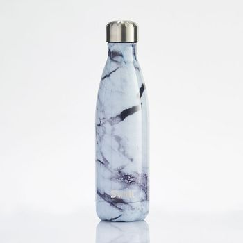 S Well White Marble Water Bottle Paper Source