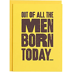 Men Born Today Birthday Card