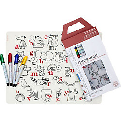 Reusable Coloring Alphabet Animals Placemat