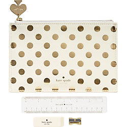 kate spade new york Gold Dot Pencil Pouch