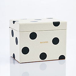 kate spade new york Dot Recipe Box