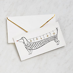 kate spade new york Dachshund with Ornaments Holiday Cards