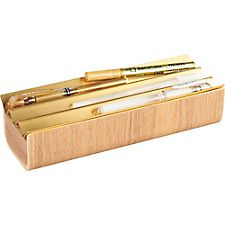 Ashwood & Brass Tulip Pencil Box