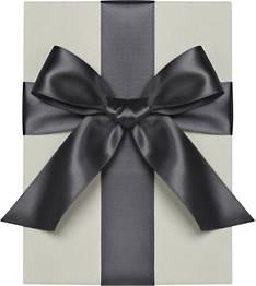 "1"" Wide Black Satin Ribbon"