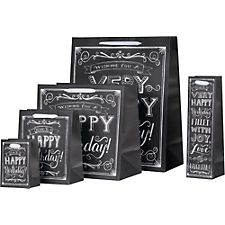 Happy Birthday Chalkboard Gift Bags