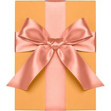 Coral Satin Ribbon