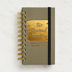 Paper Source Small Brush Weekly Spiral Planner 2016-2017