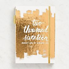 Paper Source Gold Brush String Bound Planner 2016-2017