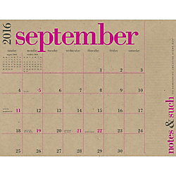 Paper Source Great Big Calendar 2016-2017