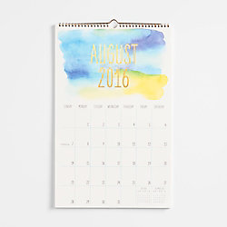 Paper Source Watercolor Foil Calendar 2016-2017