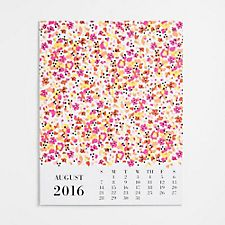 Paper Source Wrapping Paper Calendar 2016-2017