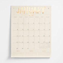 Paper Source Tall On The Wall Calendar 2017