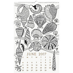 Paper Source Coloring Book Calendar 2017