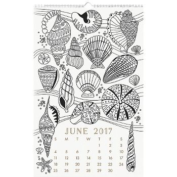 Rollover To ZoomView Larger Paper Source Coloring Book Calendar 2017