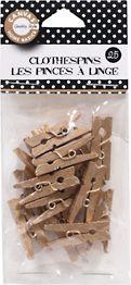 Gold Mini Clothespins