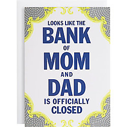 Bank of Mom and Dad Graduation Card