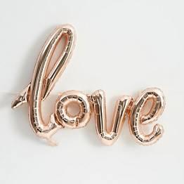 Love Script Rose Gold Balloon