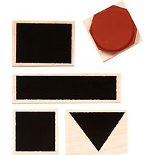 Graphic Shapes Rubber Stamp Set