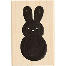 Chubby Bunny Rubber Stamp