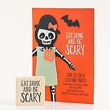 Eat Drink Be Scary Rubber Stamp
