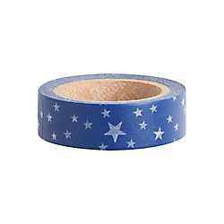White Stars on Night Washi Tape