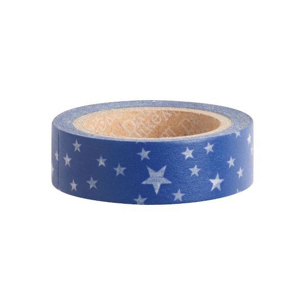 White Stars on Night Washi Tape