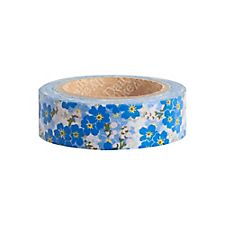 Blue Cherry Blossom Floral Washi Tape