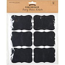 Chalkboard Fancy Frame Labels