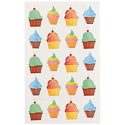 Shimmer Cupcake Stickers