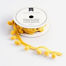 Ribbon and Trim - Goldrod Pom Pom