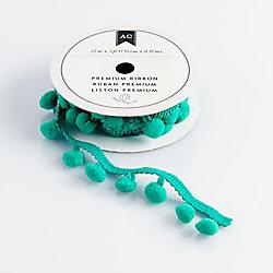 Ribbon and Trim - Aqua Pom Pom