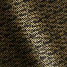 Gold Mini Honeycomb on Black Fine Paper
