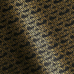 Gold Mini Honeycomb on Black Fine Paper