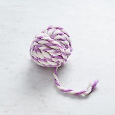 Lavender and White Stripe Yarn Ball