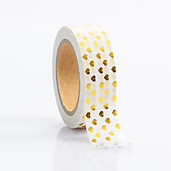 Gold Foil Heart Washi Tape