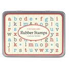 Cavallini ABC Lowercase Rubber Stamp Set