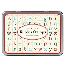 Cavallini ABC Lowercase Rubber Stamp Set