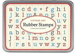 ABC Lowercase Rubber Stamp Set
