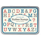 Cavallini ABC Uppercase Rubber Stamp Set