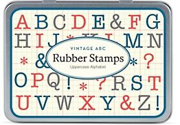 ABC Uppercase Rubber Stamp Set