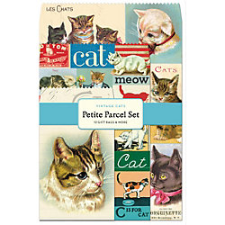 Cavallini Vintage Cats Gift Bag Set