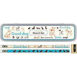 Cavallini Vintage Dogs Pencil Tin