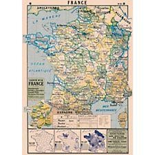 Cavallini Map of France Wrapping Paper
