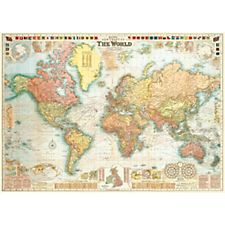 Cavallini World Map 5 Wrapping Paper