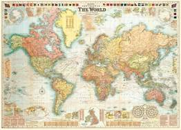 World Map 5 Flat Wrap