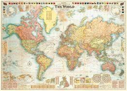 World Map 5 Flat Wrap