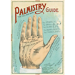 Cavallini Palmistry Guide Wrapping Paper