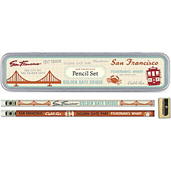 Cavallini San Francisco Pencil Tin