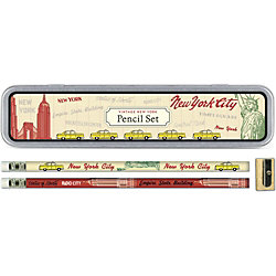 Cavallini Vintage New York Pencil Tin