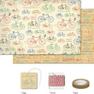 Cavallini Vintage Bicycles Gift Wrap Pack